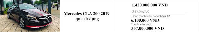 Giá xe Mercedes CLA 200 2019 đã qua sử dụng hấp dẫn bất ngờ