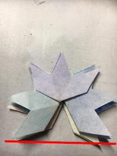 影織の切り絵ポップアップカード作り方⑯