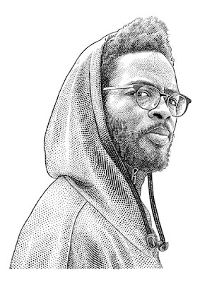Knxledge hedcut portrait
