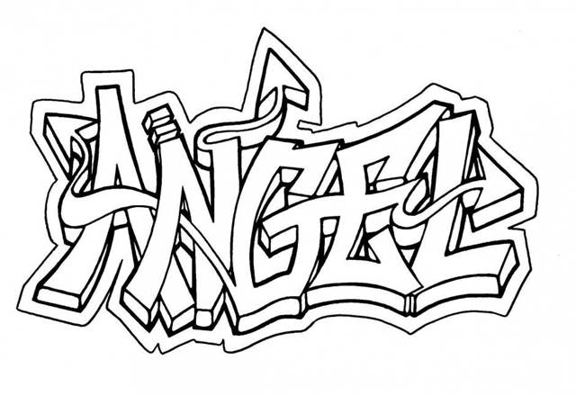 Graffiti Schrift Zum Ausmalen Ausdrucken Hylen Maddawards Com