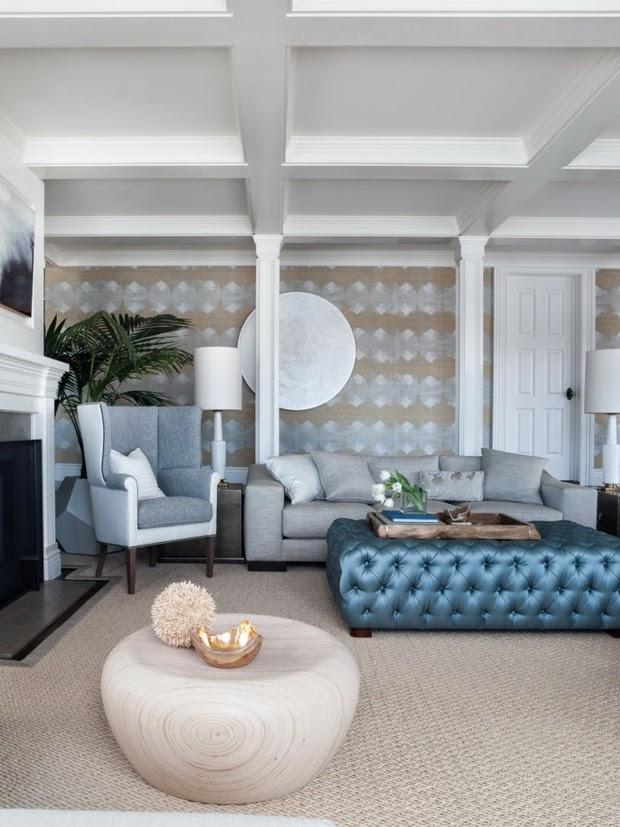 Sala en gris y azul