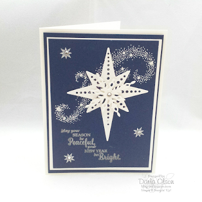 Christmas card created with Star of Light shared by by Darla Olson at inkheaven