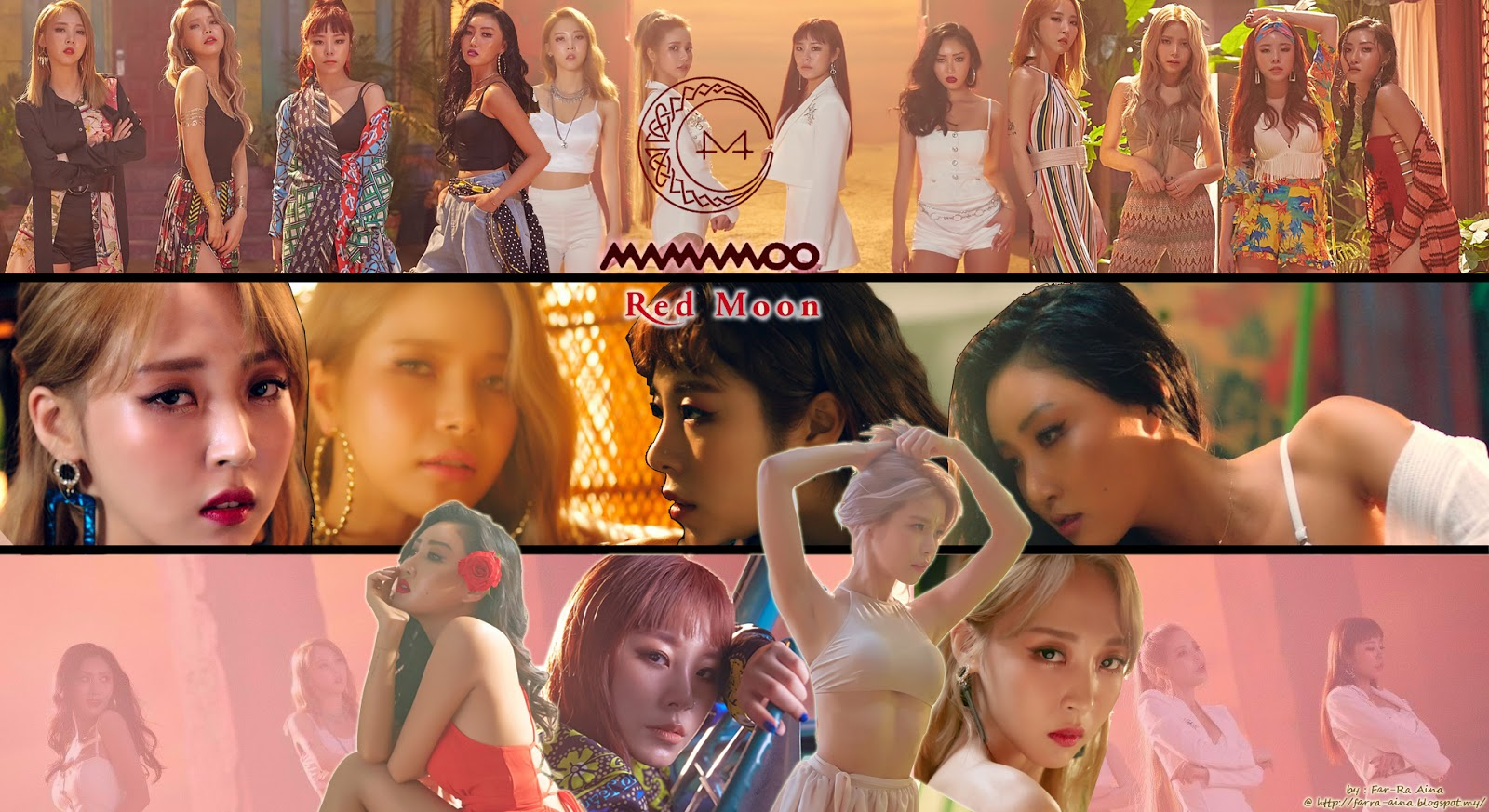 K Pop Lover Mamamoo Red Moon Wallpaper