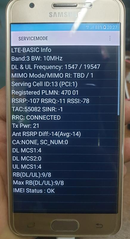 Samsung SM-G570F Imei Ripair And Emergency Call Fix Done By Chimera