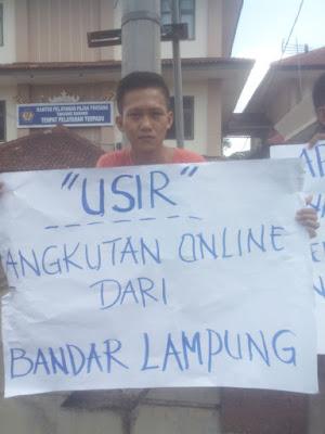 Massa Tuntut Herman HN Tutup Angkutan Online