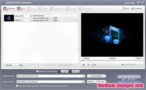 GiliSoft Video Converter 10.6.0 Full Key Cr@ck – Chuyển đổi mọi định dạng video, Audio