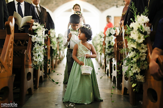 Flower Girl at Church Wedding