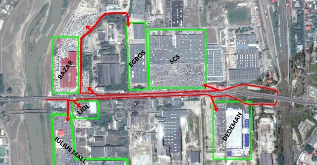 Noul centru comercial și soluția rutieră posibil greșită de pe Calea Unirii