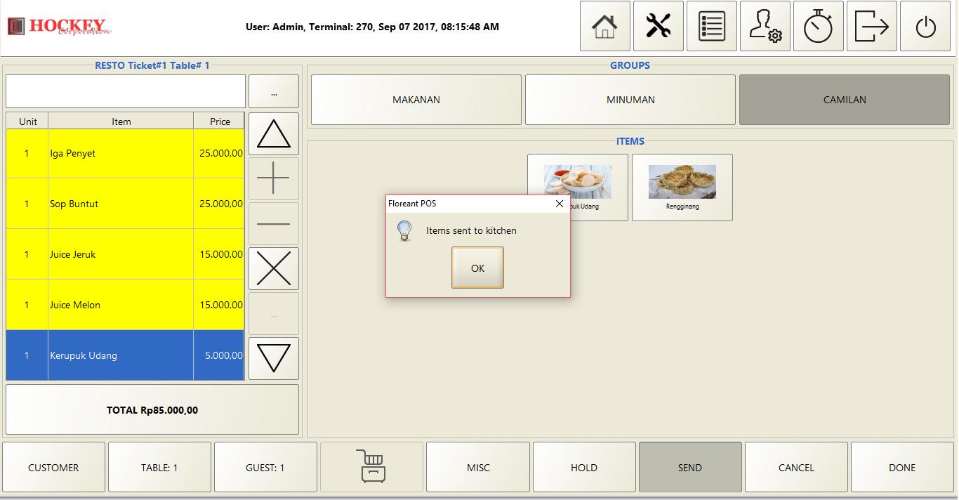 resto cafe Software program aplikasi mesin kasir online