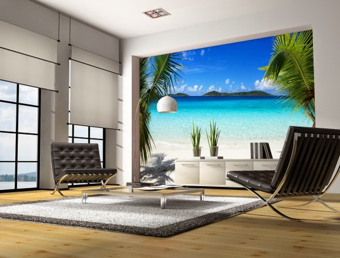living room wall murals water feng shui element the reporter 12706