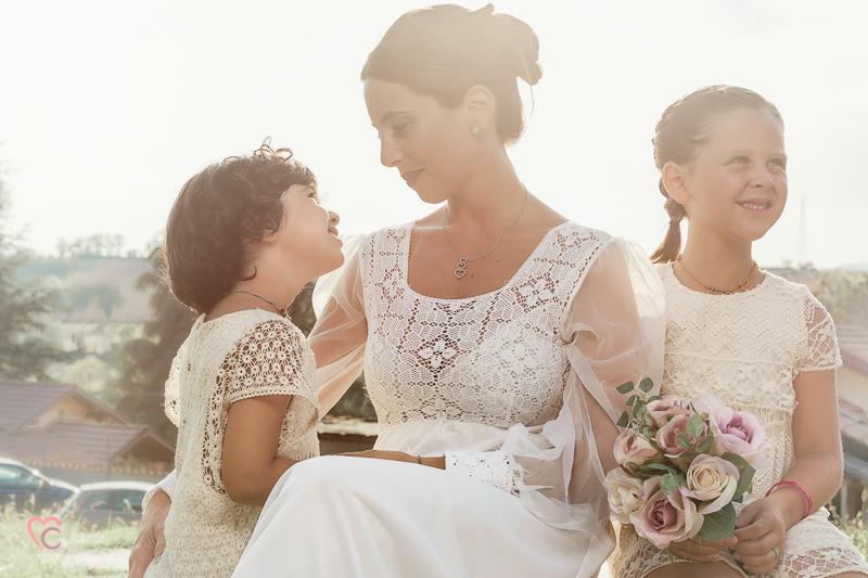 Fotografia di famiglia, mamma con figlie