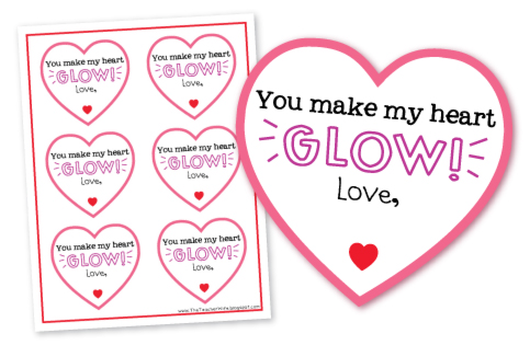 image about You Make My Heart Glow Printable titled Cunning WI Mama: Sweet-Cost-free Valentines Tips
