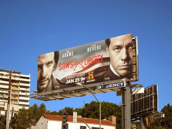 Sons of Liberty mini-series billboard