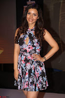 Kyra Dutta in a Deep neck Small Dress at Shamanthakamani pre release function ~  Exclusive 111.JPG