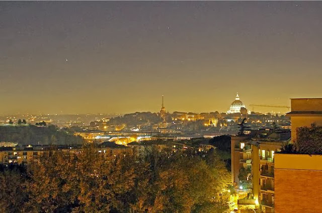 Stars over Vatican City