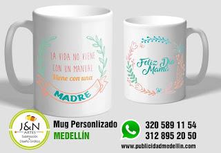 tazas perosnalizadas en Medellin dia de la madre