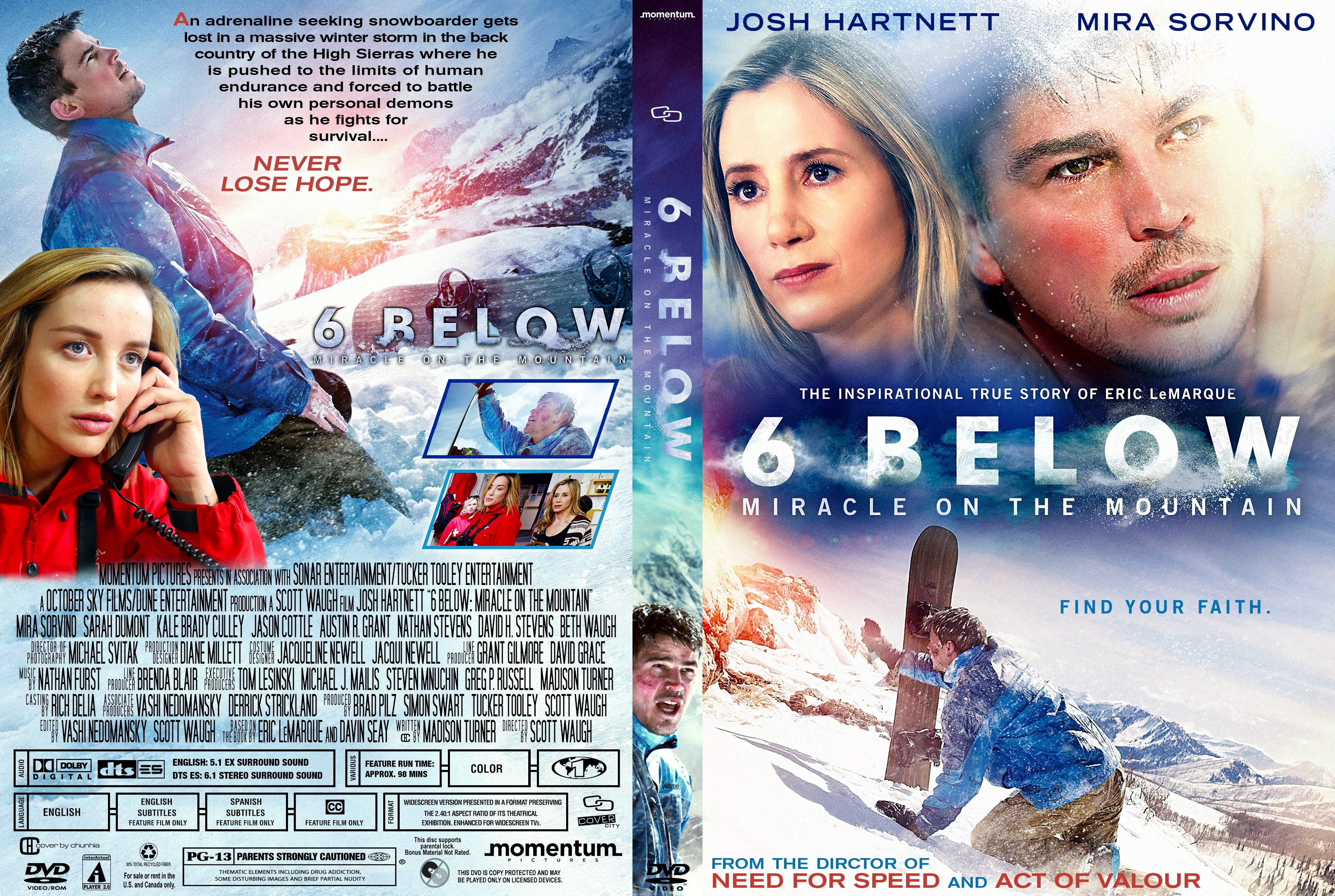 6 Below Miracle On The Mountain Dvd Cover