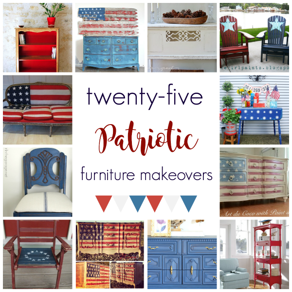 4th of July furniture, Fourth of July decor, Patriotic decor ideas, diy 4th of july, painted furniture in red white and blue