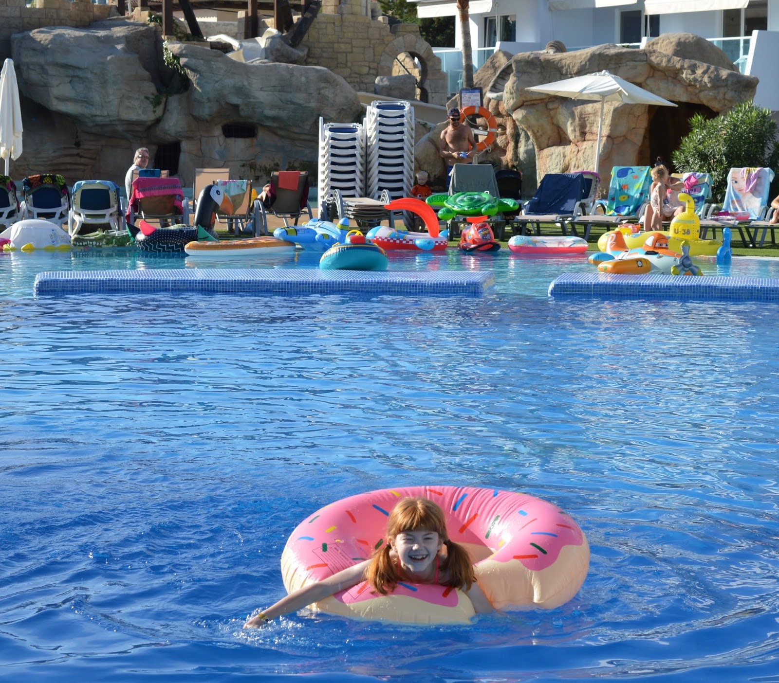 Pirate Swimming Pools and Mermaid Lessons at Pirates Village, Majorca - 2m deep pool
