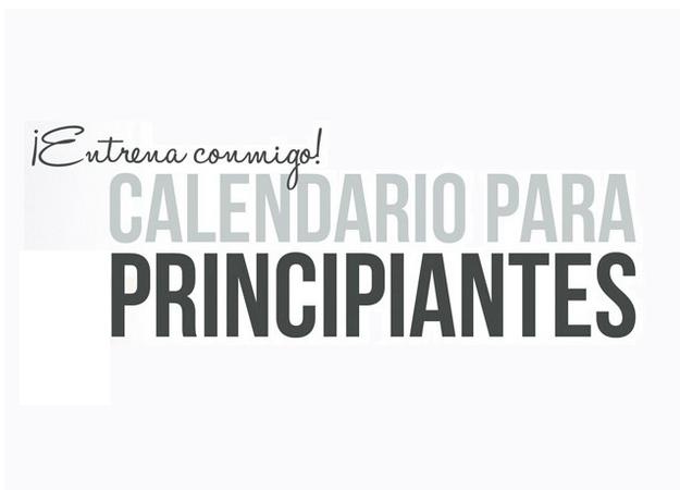 Calendario Septiembre Gymvirtual.Calendario Principiantes Gymvirtual Dany Bucio Blog