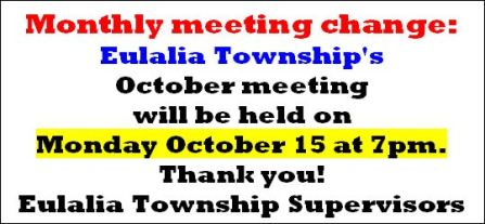 Eulalia Township Meeting Change