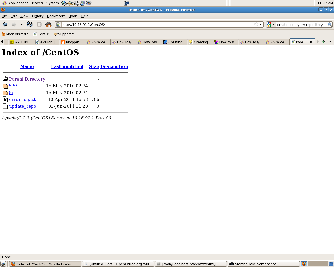THINGS YOU DON'T KNOW!?~: Creating A Local Yum Repository on CentOS 5 x