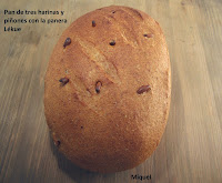 Pan con tres harinas y piñones #dia de Lèkuè