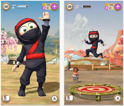 تحميل لعبة المرح Clumsy Ninja مهكرة للأندرويد
