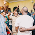 So Humble! See how Davido lies flat on the ground to greet his uncle! (Photos)