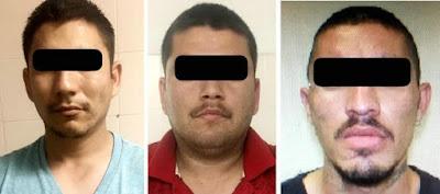 Capturan a tres hombres por el probable delito de privación de la libertad y robo de vehículo