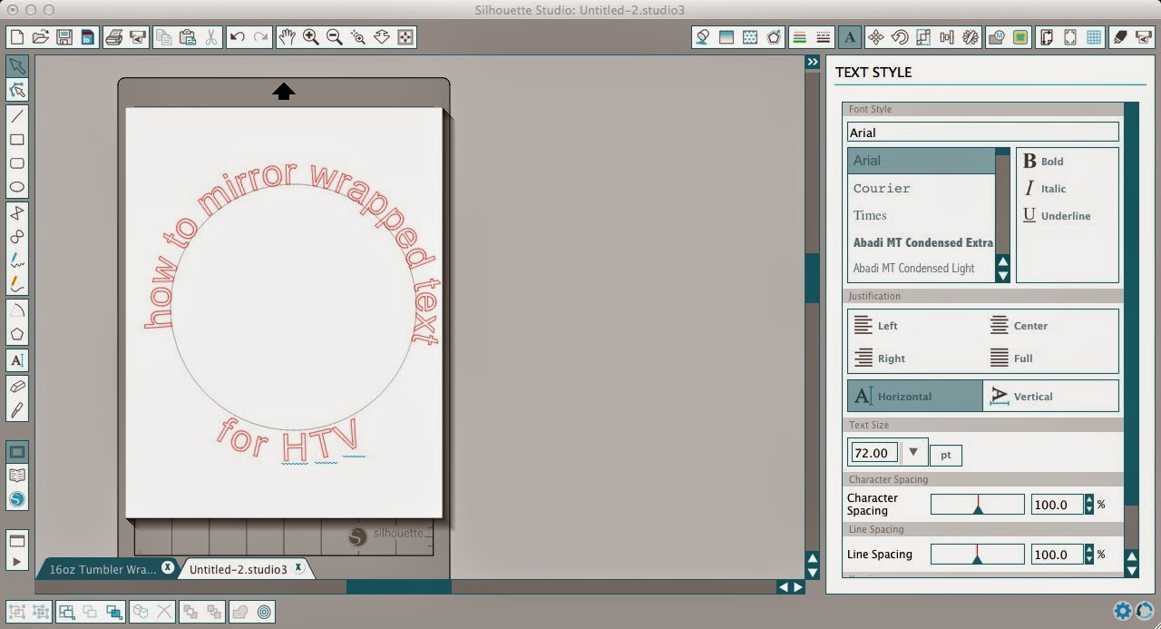 How To Mirror Wrapped Text For Htv In Silhouette Studio