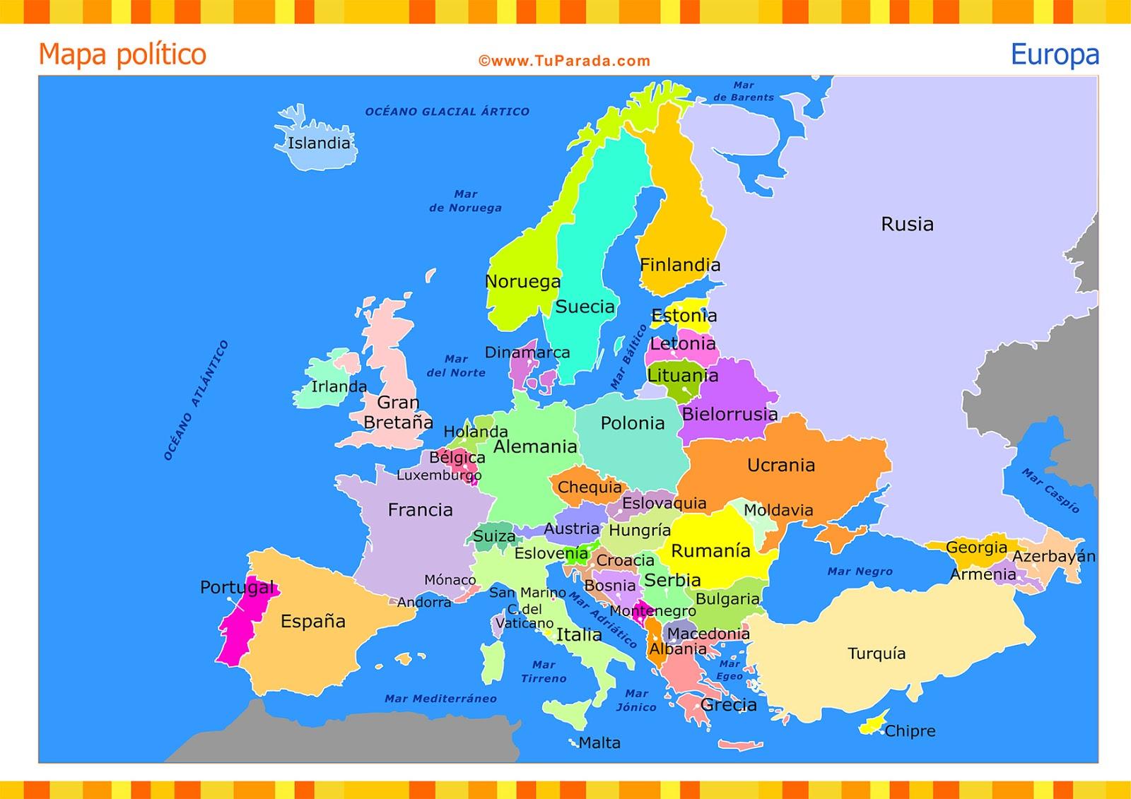 Ciencias Sociales Mapa de Europa completo