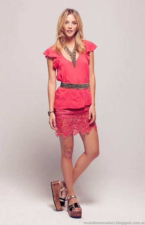 Polleras y blusas de fiesta 2015 verano Silvina Ledesma.
