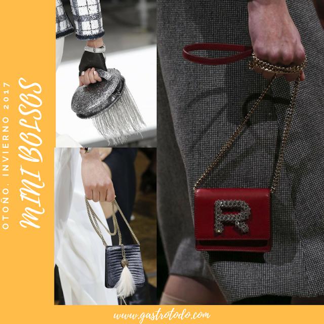 Mini-bolsos con bellas combinaciones.