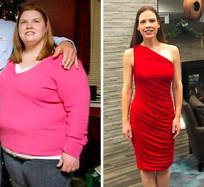 21 Before And After Photos Of People Who Managed To Lose Weight and Begin A Brand New Life - She combined a healthy diet and fitness two years ago. Her result is impressive — 170lb lost.