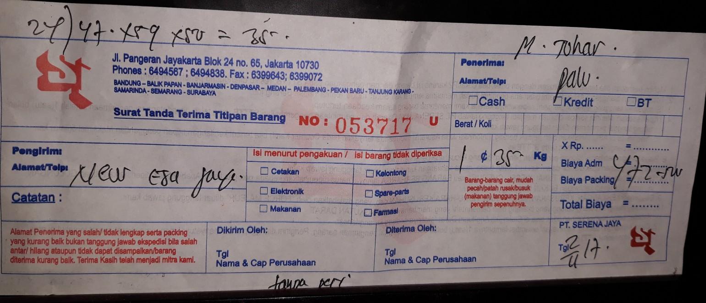 Perhitungan biaya ekspedisi pengiriman barang ~ spesialis ...
