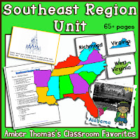 https://www.teacherspayteachers.com/Product/US-Regions-Southeast-Region-Unit-284650