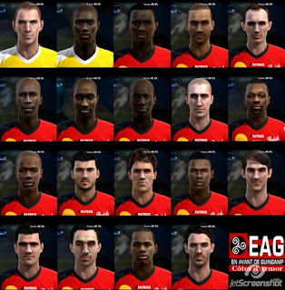Pack de faces Guingamp para pes 2013