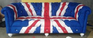 Sofa Kain Motif Bendera Inggris