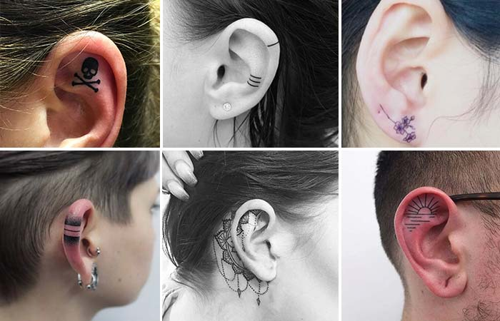 kulak içi dövme modelleri tattoos in ear