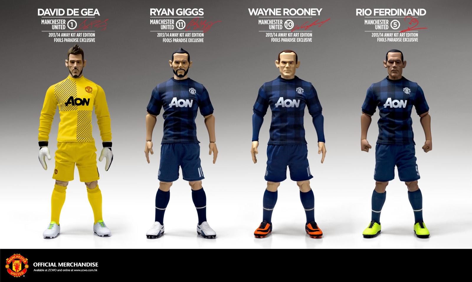 c8cc01ebe42 Fools Paradise Blog: Manchester United 1:6 Art Edition 2013/14 Away ...