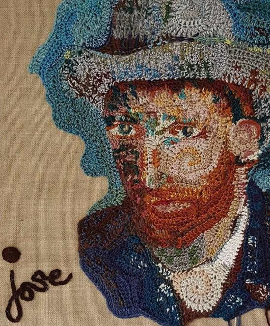 Van Gogh, by José Dammers   Happy in Red