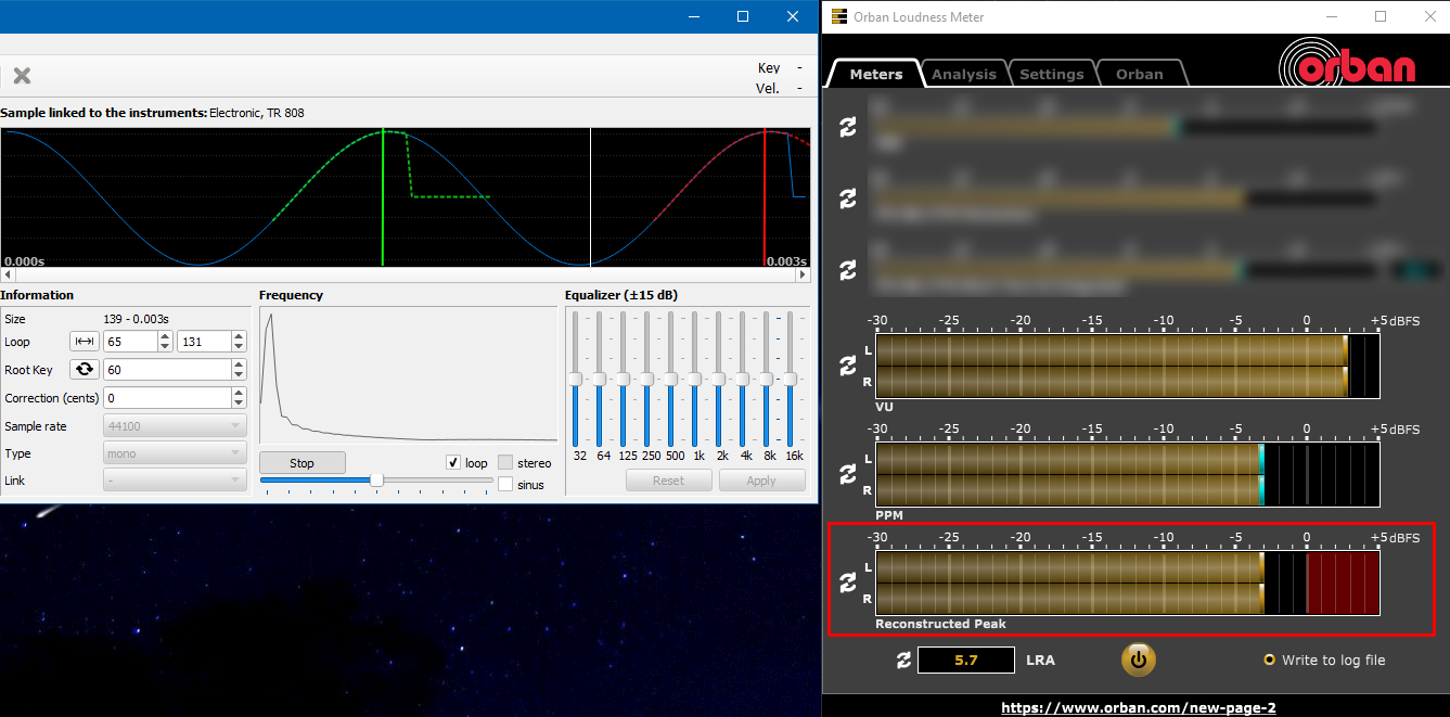 HEDSound: Attenuation values (dB) in a Soundfont (SF2, SF3