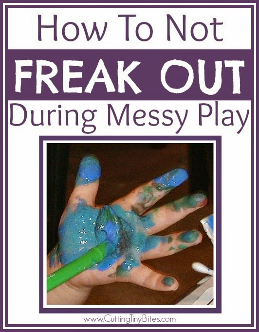 Tips for keeping calm while your kids get messy. Let them paint, craft, and play in the mud!