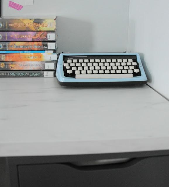 Vintage turquoise typewriter