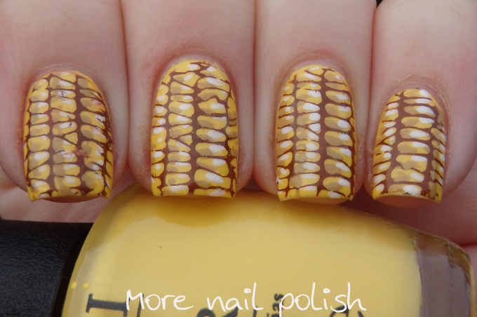 I Then Added Light And Dark Yellow Highlight Shadow Dots To Each Corn Kernel Before Sticking The Stamp Down Onto My Nails Used Same Technique As