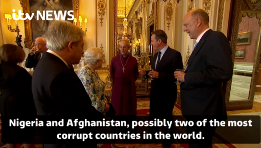David Cameron seen on video calling Nigeria and Afghanistan two of the most corrupt countries in the world
