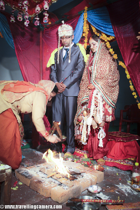 Vidai CeremonyVidai (also called Bidai), which simply put is departure of the bride from her father's house, is a post wedding ceremony. This takes place after the wedding rituals are complete. During the vidai ceremony the bride is accompanied by her parents and associates who lead her outside the doorstep of the house.  In Himachal, the maternal uncle (mother's brother) takes the bride to the car or the Doli and hands her to the groom. Before crossing the doorstep, she throws back three handfuls of rice and coins over her head, into the house. This symbolizes that the bride is repaying her parents for all that they have given her so far.Just when the bride and the groom sit in the car and it starts, the bride's brothers and cousins push the car from behind, signifying that they have given her a push ahead to start a new life with her husband. After the last car starts, money is thrown on the road to discard the evil. Generally, younger sister accompanies the bride to her matrimonial home.A girl at Bride's side is confused that why these folks are taking her Di with them ... And not able to accept the fact even when her mom described the scenario...While kids from other side are happy to see new member in family !!!
