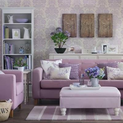 Salas de color lila salas con estilo - Salon gris y morado ...