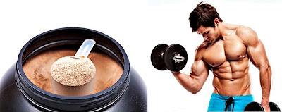 Batido proteínas masa muscular